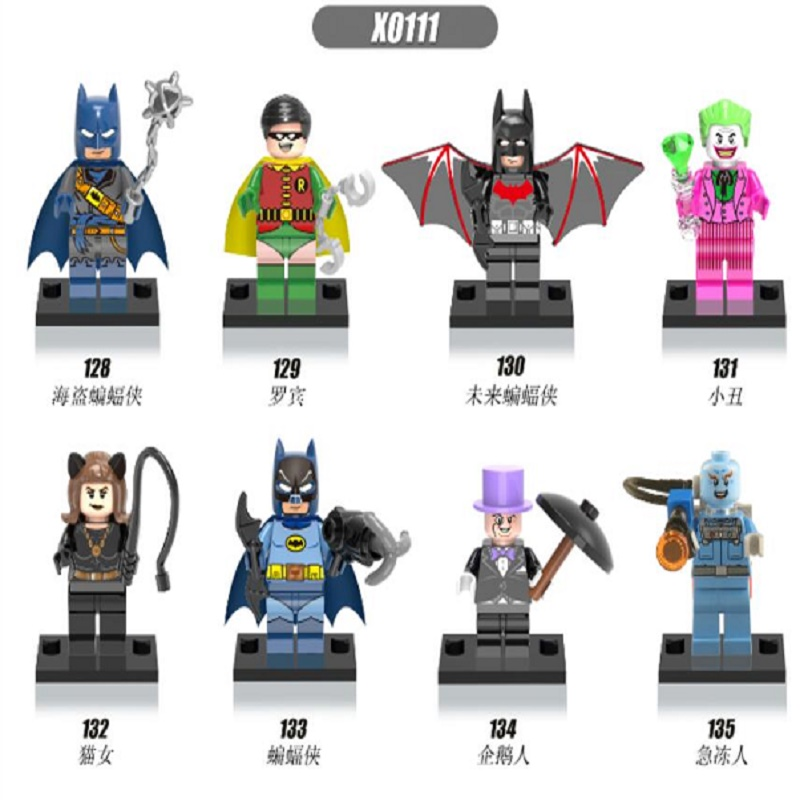 Single Sale Super Heroes Batman Beyond Penguin Robin Joker Catwoman Mini Dolls Bricks Building Blocks Children Gift Toys X0111 single sale pirate suit batman bruce wayne classic tv batcave super heroes minifigures model building blocks kids toys gifts