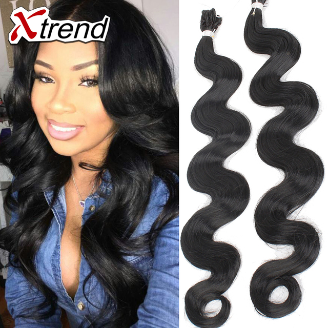 High Quality 18 80g Synthetic Hair Extension Weave Black Body Wave Crochet Braids