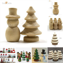 10pcs Wooden Unfinished DIY Craft Peg Dolls Toy Festive Event Party Holiday