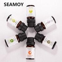 6 pçs/set 100% puro natural aromaterapia óleos kit 10ml para umidificador água solúvel fragrância óleo de ar fresco óleo essencial conjunto Umidificadores     -