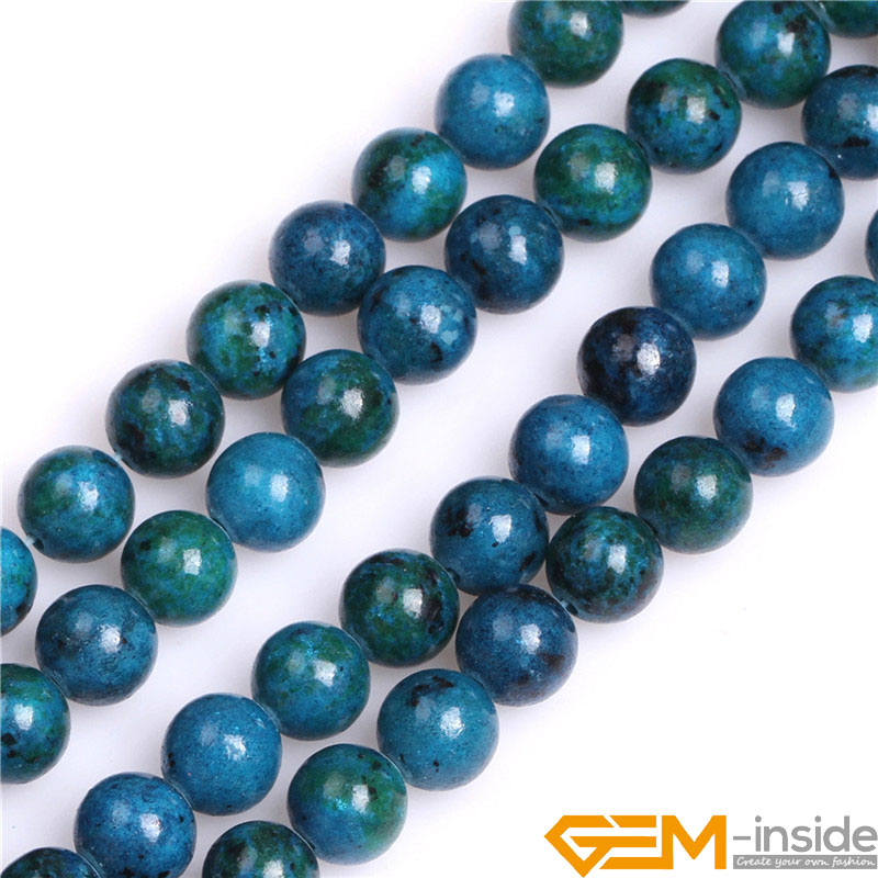 8mm Round Blue Dyed Howlite//Turquoise Green Gemstone Beads 15 Inches Beads