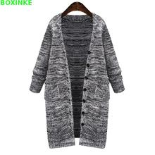 Poncho Computer Knitted V-neck Women Sweaters And Pull New Large Size Coat Europe Long Cardigan Sweater Mm Fat 200 Pounds