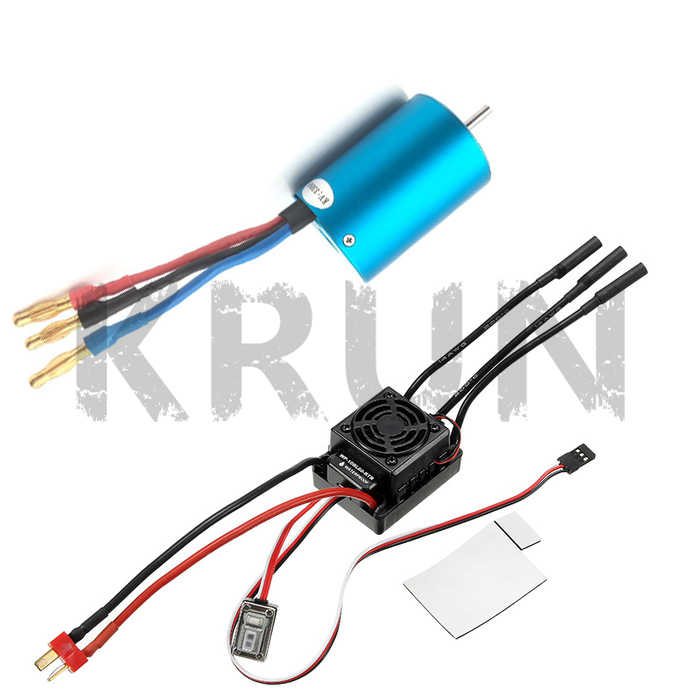 WaterProof 50A ESC 37017(03307) 107051 (03302) 3650 BRUSHLESS 540 Motor For 1/10 RC Cars Remote Control Car HSP HPI 2-3S Lipo