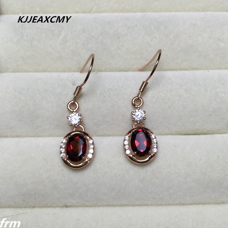 KJJEAXCMY Fine Jewelery New natural Madagascar garnet burst female Earrings 925 Silver
