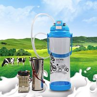 3L 0.8 Gal Milking Machine sheep Goat Double Head Electric Automatic Vacuum Pump Manual Milking Machine Electric Impulse Milker