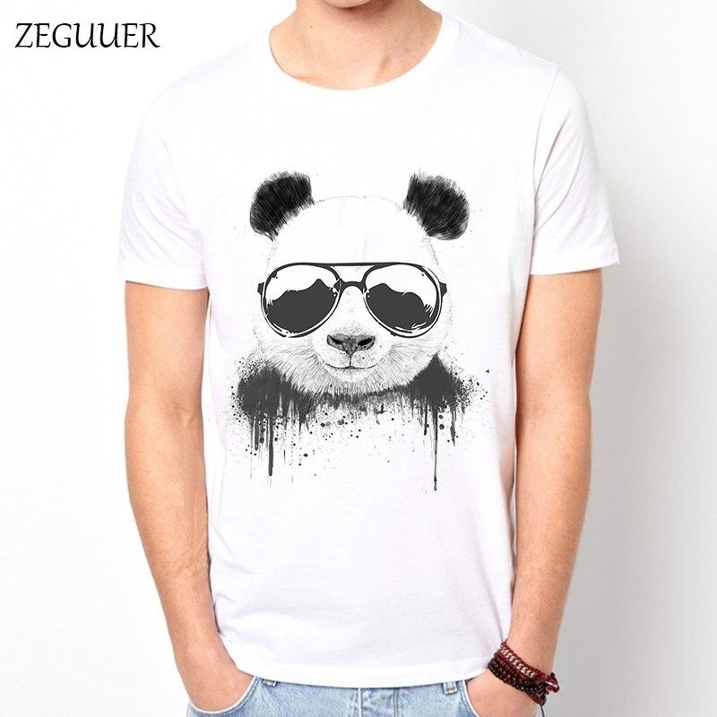 Panda Bear Clown Streetwear Tshirt Summer Funny T Shirts Mens T Shirts Fashion 2018 T Shirt Men Harajuku Boyfriend Gift