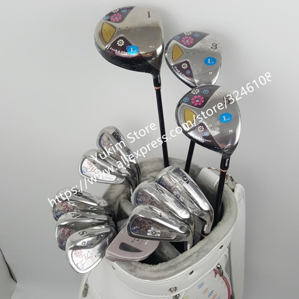 Новые женские Гольф клубы Maruman FL Гольф полный набор клубов водитель + фарватера древесины + утюги + Putter графит гольф вал Бесплатная доставка