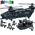 IBLOCKS Large Armed Transport Helicopter Landing Craft Military Hobby Models & Building Toy Swat Educational Blocks For Children