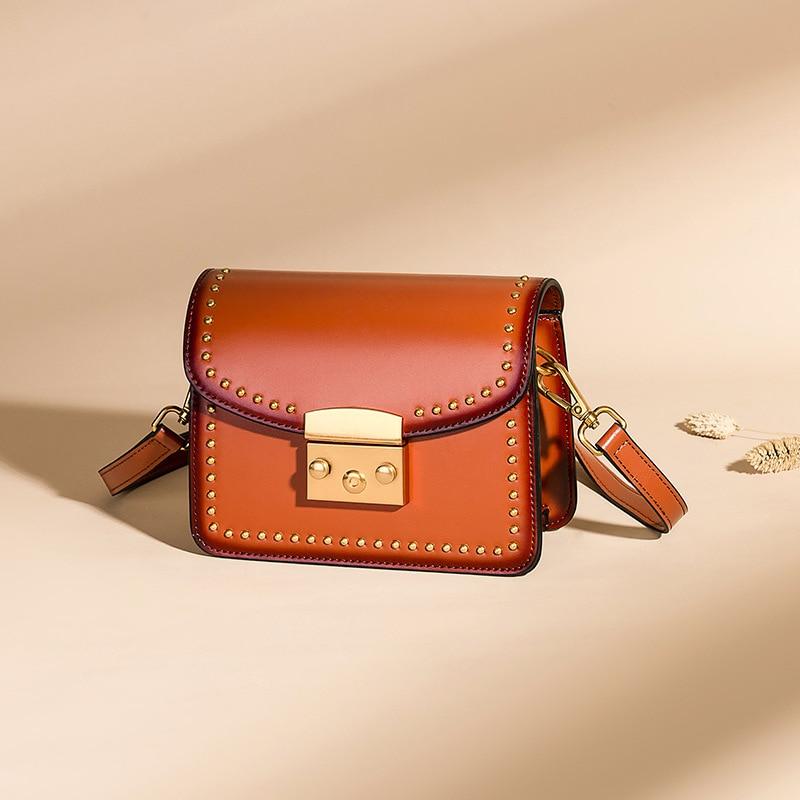 Stylish Women Shoulder Sling Bags Handmade Genuine Leather Messenger Hand Bags Detachable Strap Lady Crossbody Square Bags недорго, оригинальная цена