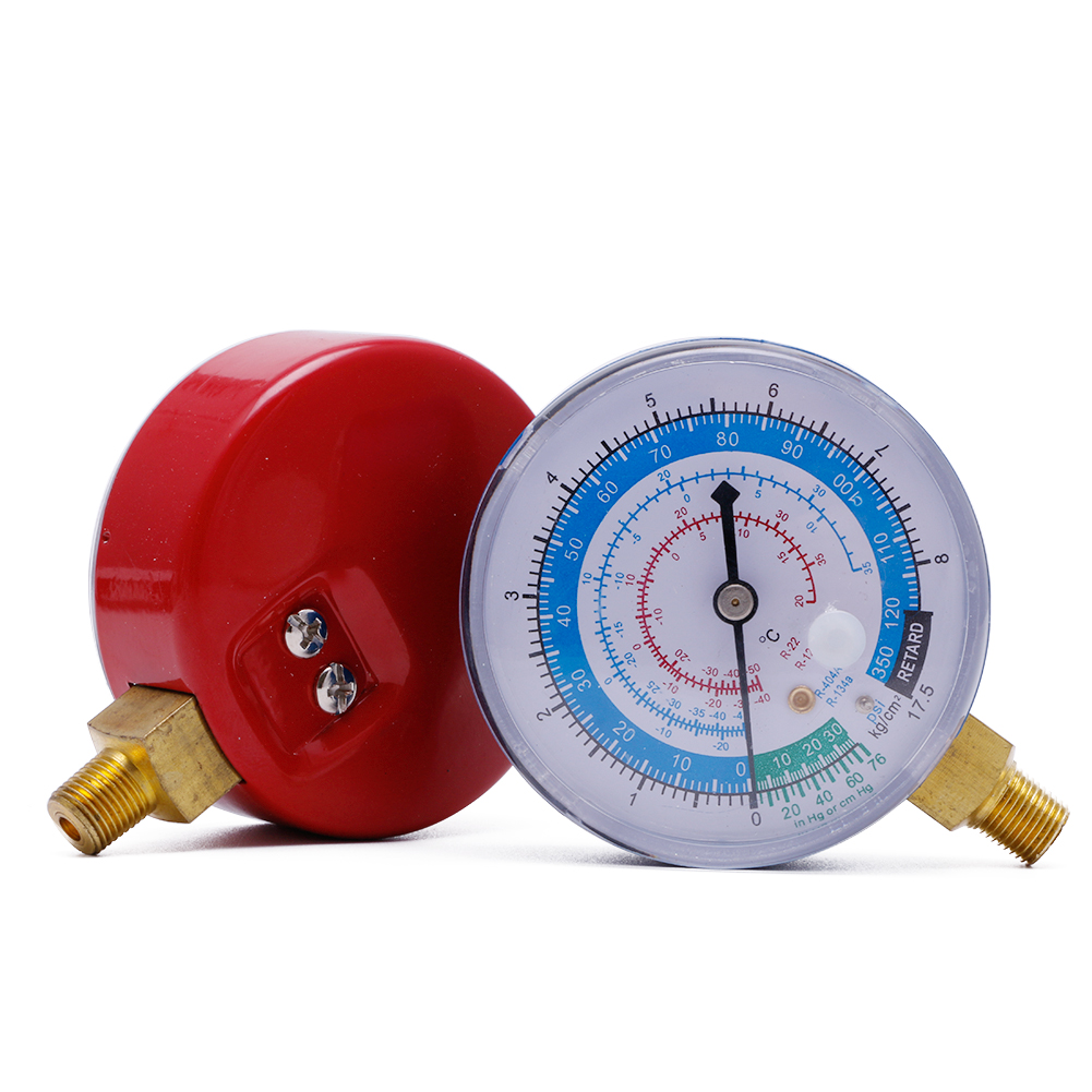 Air Conditioner R404A R134A R22 Refrigerant High&Low Pressure Gauge PSI KPA