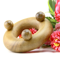 Traditional Massage Foot Neck Head Fragrant Wood Reflexology Acupuncture Shiatsu Full Body Acupoint Massager Tool