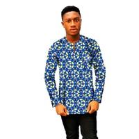 Dashiki Men Dress African Clothes Fashion Print Long Sleeve Tops Man T shirt Africa Design Dance Festive Costume customize