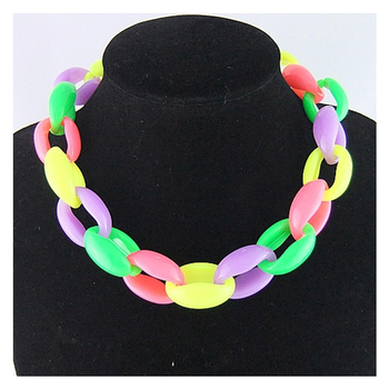c45f76a2973a CirGen de moda 5 Arco Iris color grueso de plástico cadena Collar  declaración Collar gargantilla Collar gargantillas de cadena de joyería de  las mujeres de ...