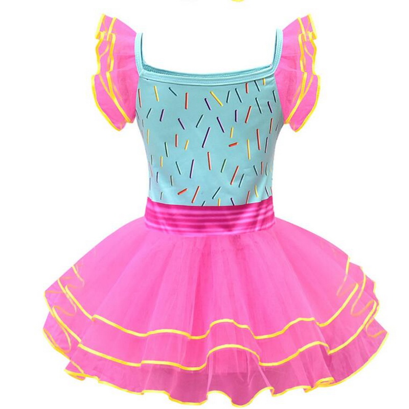 Princess Nancy Tutu Dresses With Necklace Girls Summer Birthday Costumes Toddler Cosply Party Ball Gown Dress Sundress in Girls Costumes from Novelty Special Use