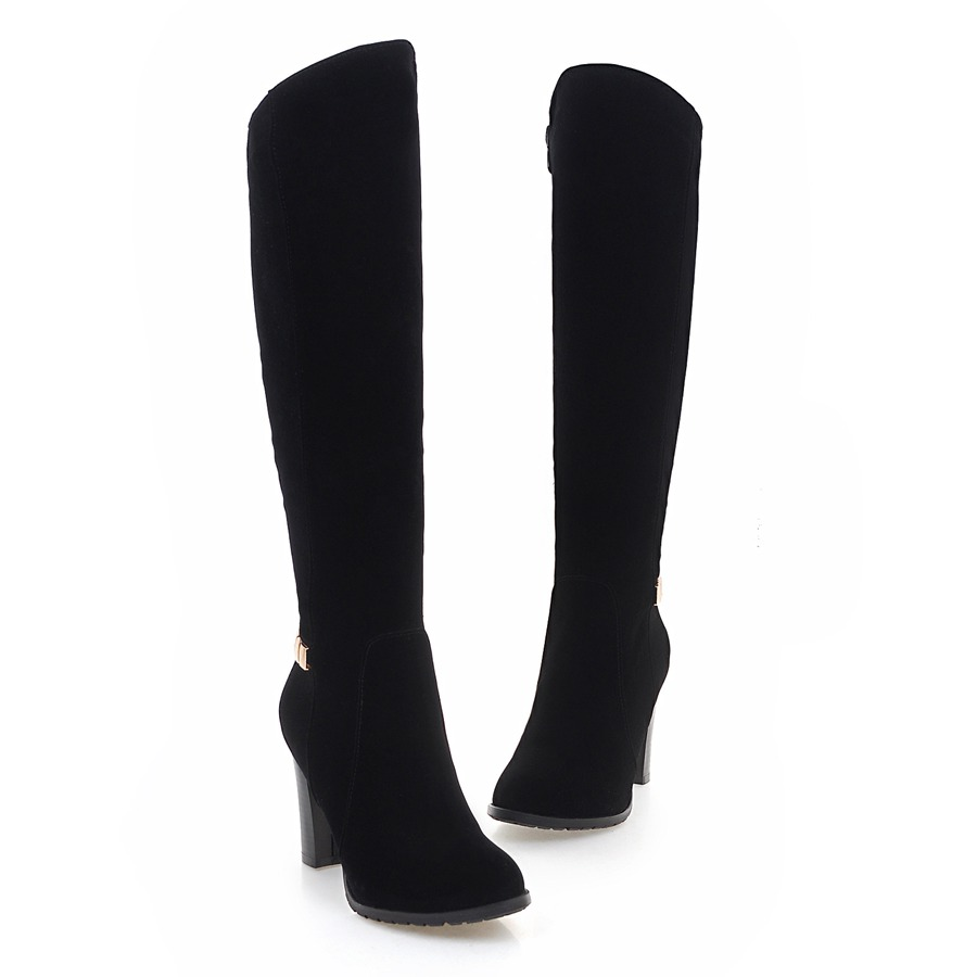 2017 New Women Suede Sexy Fashion Over the Knee Boots Sexy Thin High Heel Boots Platform Woman Shoes Black size 34-39-OD926 big size 34 45 women boots over the knee shoes black white slim thin high boots sexy ladies fashion shoes 86278