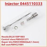 common rail injector overhaul kits Repair kit DLLA150P1803 F00VC01371 diesel injection overhaul Kit for 0445110383 0445110333