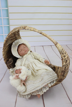 22″ Reborn Baby Girl doll Lifelike soft silicone vinyl newborn baby doll for girl best gift