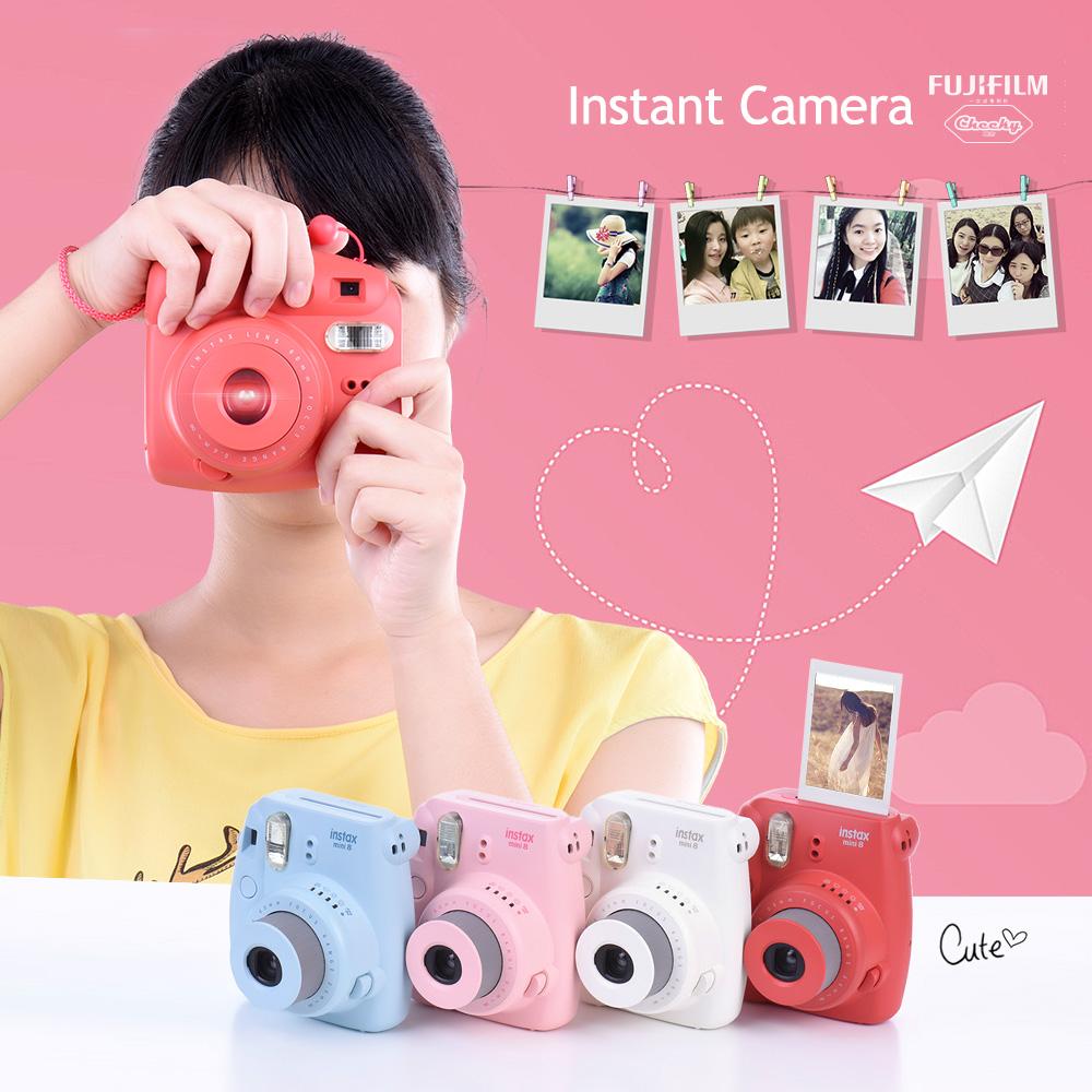 Prix pour Fujifilm Instax Mini 8 Film Caméra Photo Appareil Photo Instantané Pop-up Lens Auto Dosage Mini-Caméra De Noël cadeaux