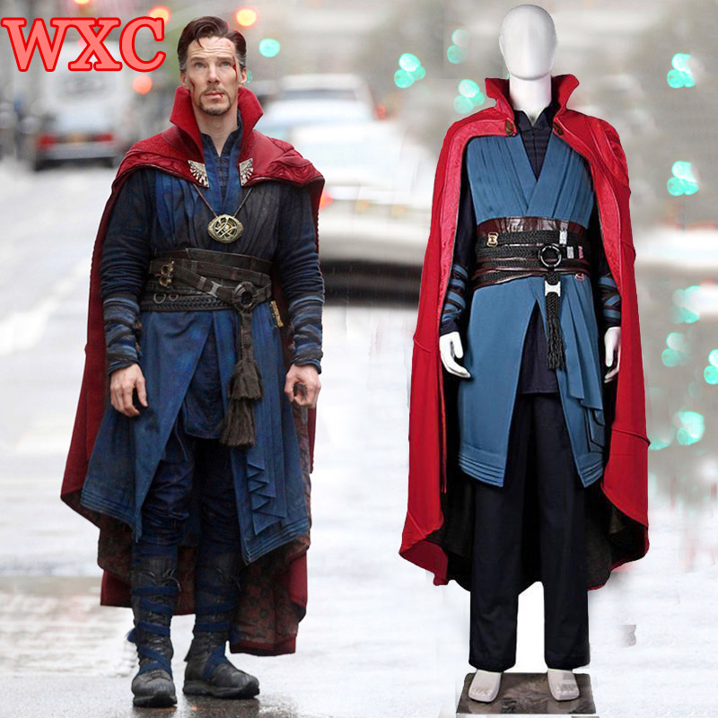 Dr Strange Movie Doctor Strange Stephen Cosplay Costume Cloak Uniform Superhero Costume for Men Women Halloween Xmas Gift WXC
