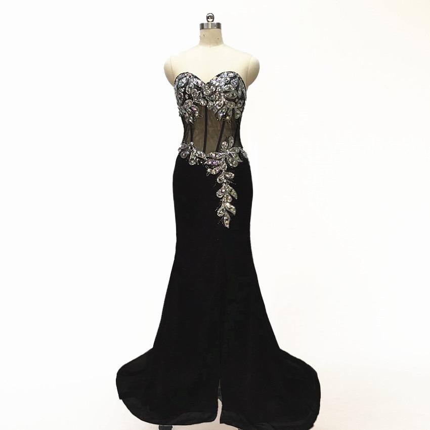 Generous Sweetheart Beaded Prom Dresses 2019 Lange formele - Jurken voor bijzondere gelegenheden - Foto 3