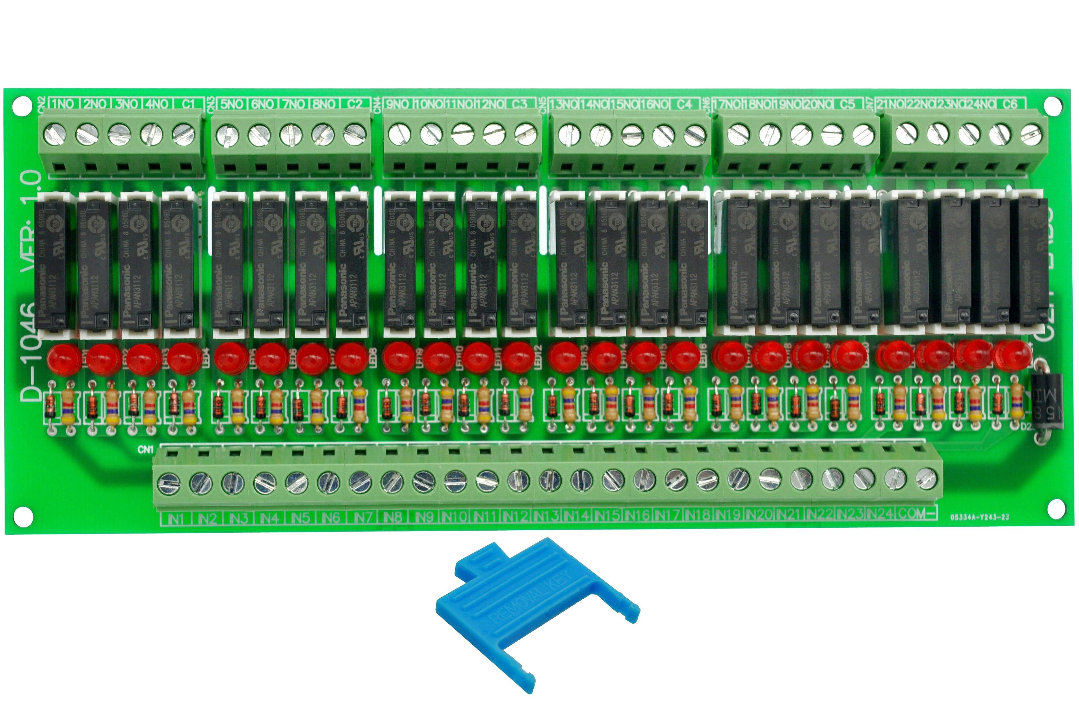 Slim Panel Mount DC12V Source/PNP 24 SPST-NO 5A Power Relay Module, APAN3112Slim Panel Mount DC12V Source/PNP 24 SPST-NO 5A Power Relay Module, APAN3112