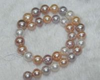 10MM AAA+ multicolor round shell pearls loose Beads 15