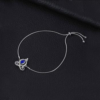 Carriage Created Sapphire Bolo Sterling Silver Gemstones Bracelet 2
