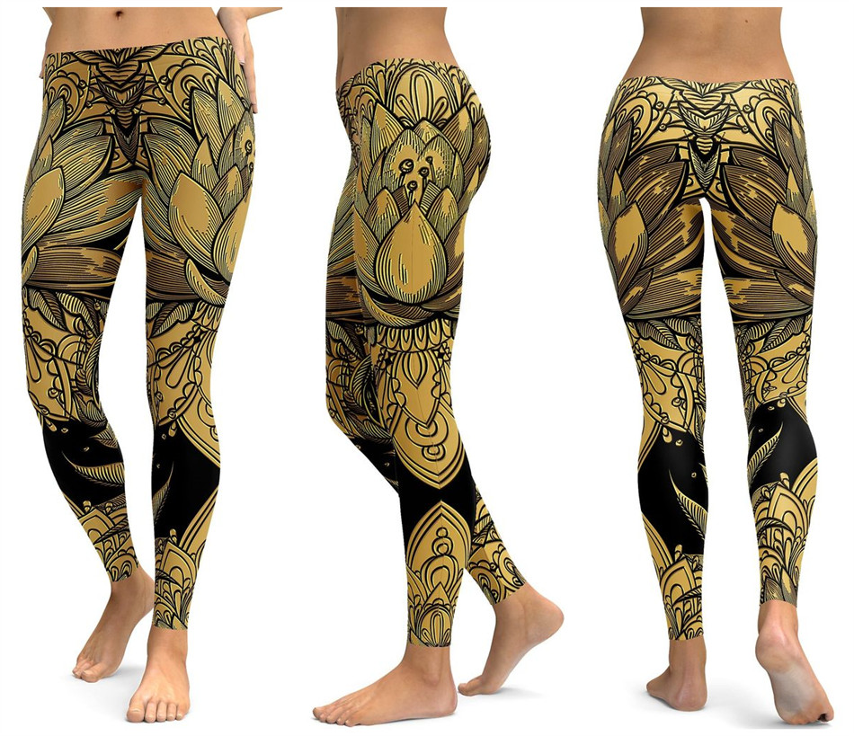 Print Yoga Pants Women Unique Fitness Leggings Workout Sports Running Leggings Sexy Push Up Gym Wear Elastic Slim Pants 16