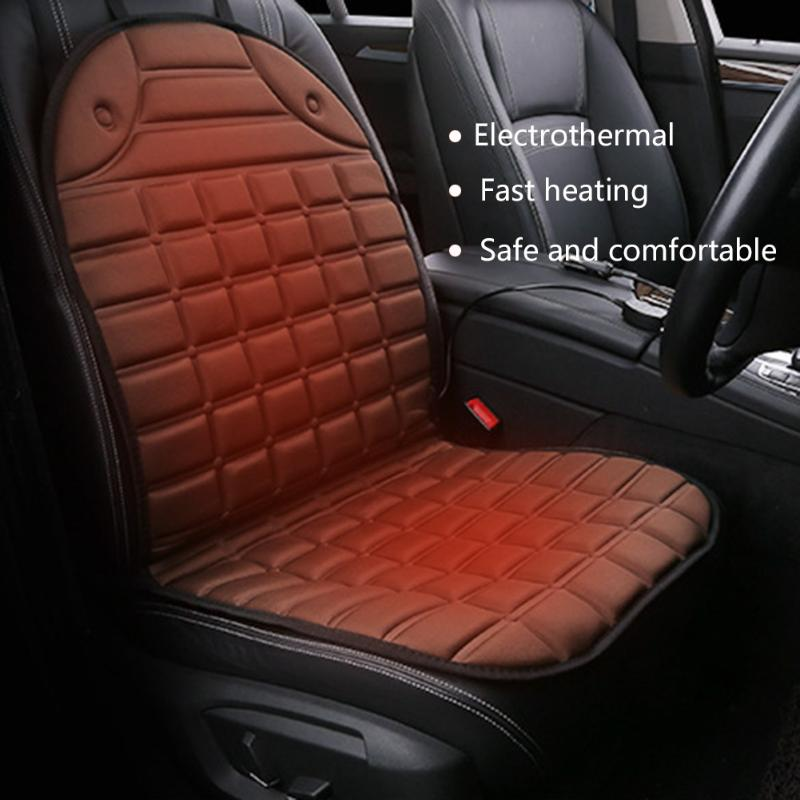 New fashion 12v heated car seat cushion universal electric winter cushions single heating pads keep warm car seat cover 12v electric car heated seat cushion cover auto heating heater warmer pad winter car seat cover supplies hight quality