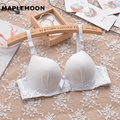 New Wicking soft and comfortable Thin small young girl thin cup bra sweet student  sex cotton underwear lace summer women's Bras