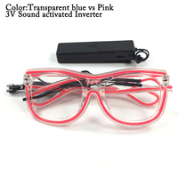 Generic Neon Light Up Glow flashing Sunglasses Holiday Party DIY Decoration EL Wire Rave Glasses Double Colors 100pcs