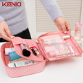 KEENICI Waterproof Makeup Bag Travel Organizer Cosmetic For Women Large Necessaries Make Up Case Wash Toiletry Multifunction