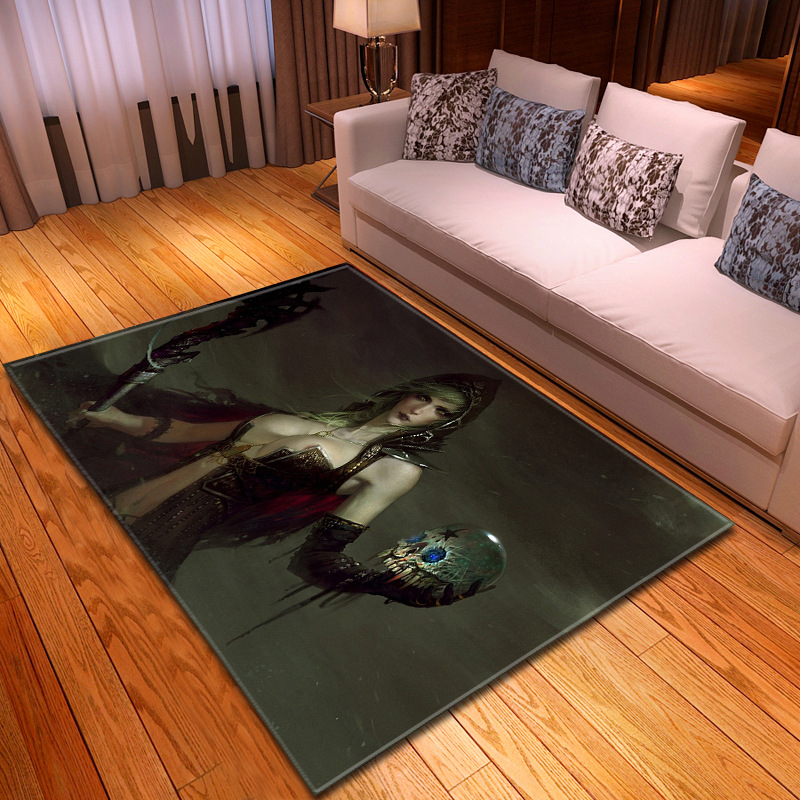 Terreur crâne grand tapis Rectangle chambre tapis anti-dérapant lavable Polyester tapis européen maison salon décoratif R623