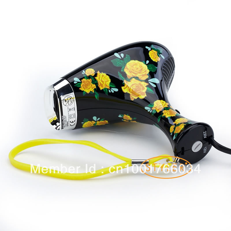 High Quality Water-Printing Hair Dryer two speed setting 120V&230V Black Fast shipping цены