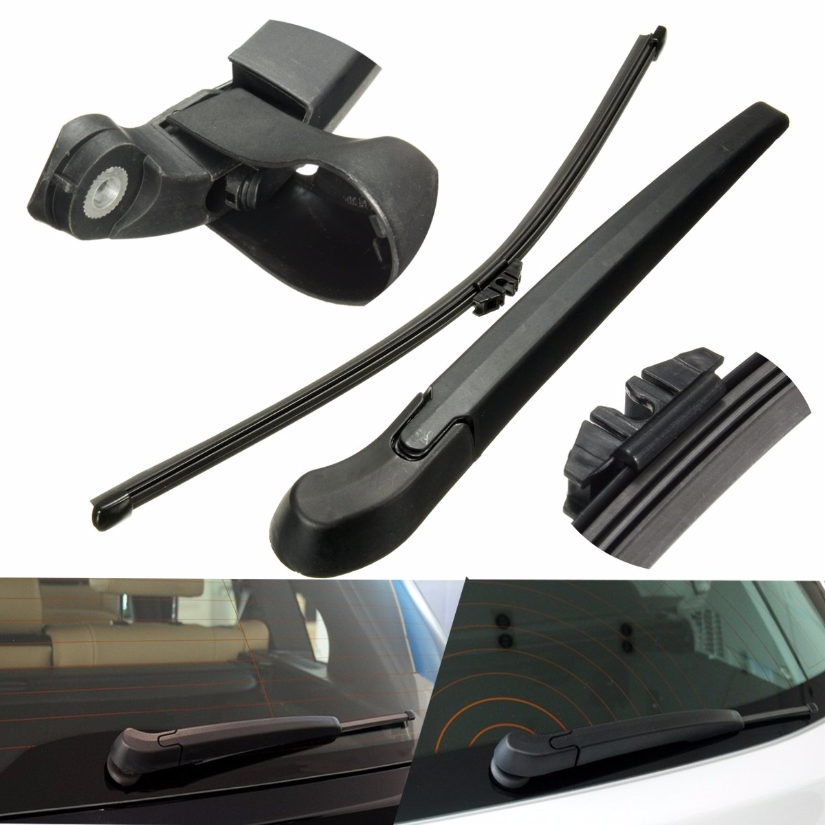 Car rear window windshield wiper arm blade plastic replace for bmw 2007 2013 x5