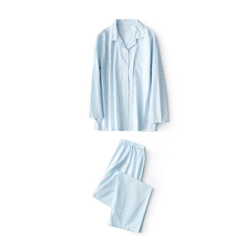 High Quality 100% Cotton Striola Pajamas Sets Men Casual Pyjama Homme Long Sleeve  Sleepwear Ropa Hombre Pijama Masculino