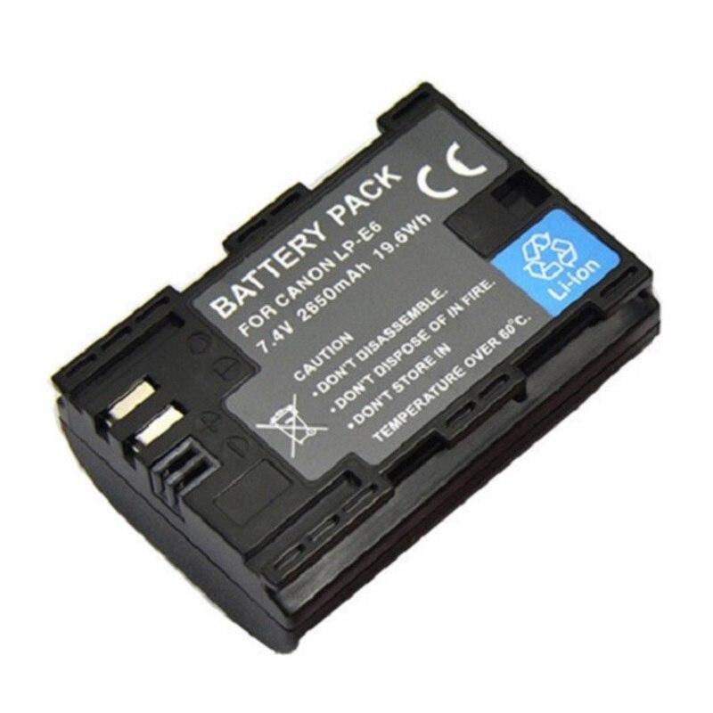 LP-E6 2650mAh 7.4V Digital Camera Battery LPE6 Li-Ion For Canon EOS 5D Mark II 2 III 3 6D 7D 60D 60Da 70D 80D DSLR EOS 5DS