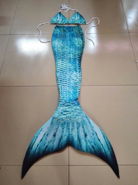 Swimmable Mermaid Tail KidsTeens Adult Swimmable Mermaid Costumes Gift for Daughter Granddaughter