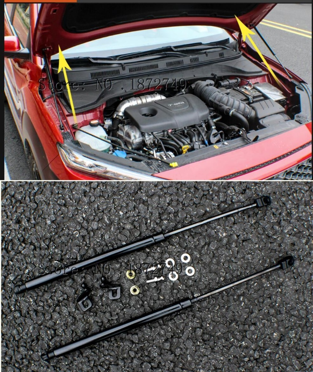 2pcs Front Bonnet Hood Lift Support Shock Struts for Hyundai Kona 2017 2018 2019