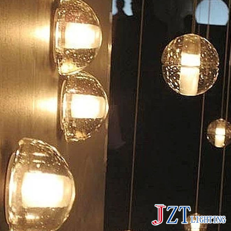 J Free shipping 2016 mordern Fashion Modern Shooting Star Glass Wall Lamp Creative Meteor Shower Pendant Lights With LED Bulb
