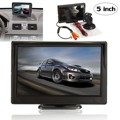 2016 Nuevo 5 Pulgadas TFT LCD de pantalla Digital LCD Pantalla de Visualización Del Monitor de Marcha Atrás Estacionamiento de Vídeo 2ch para NTSC/PAL