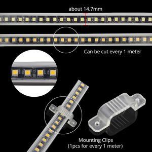 Image 4 - SMD4040 LED lint geen transformator LED strip 220 V waterdichte strip light 220 V wit warm wit ledstrip band tape streep