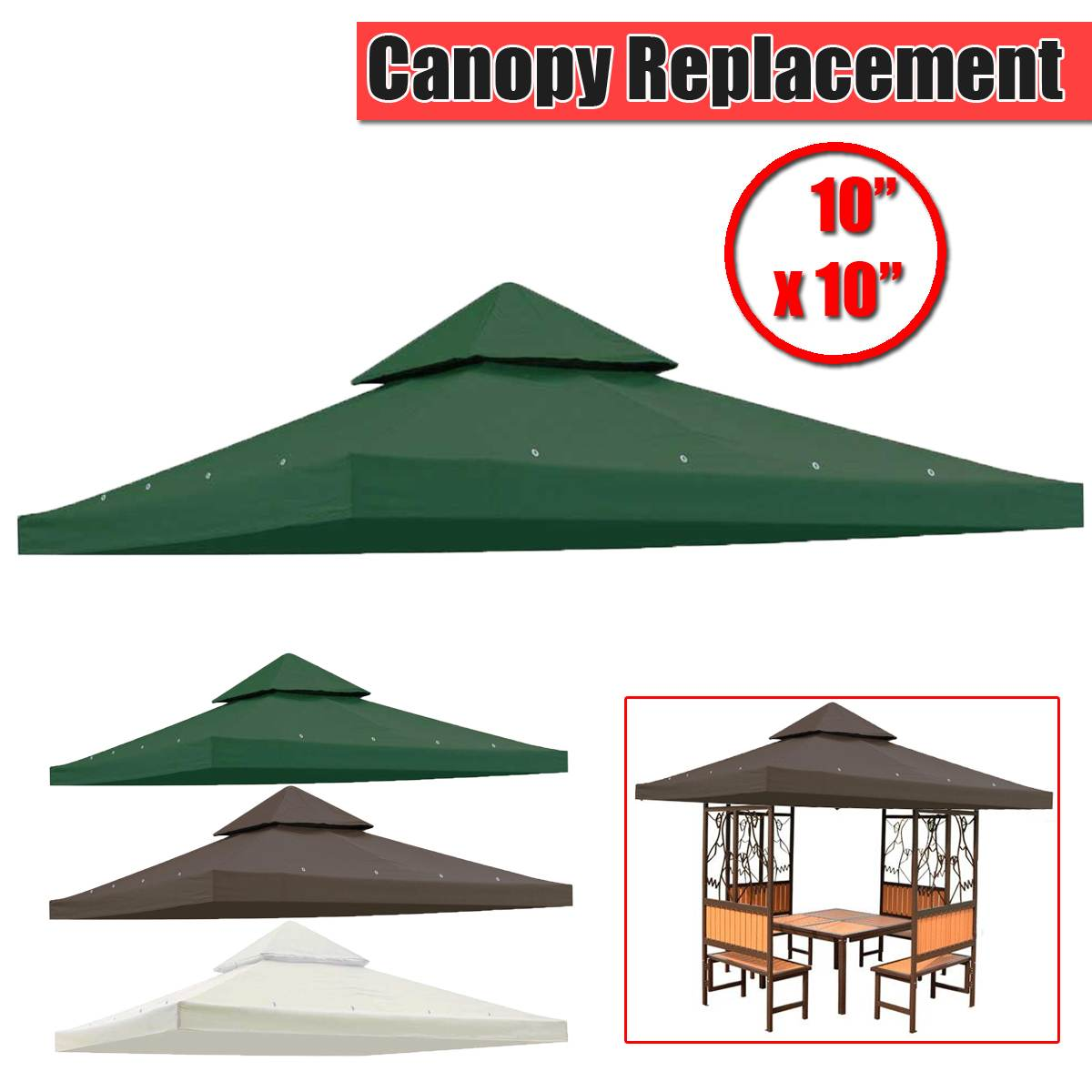 10x10 Outdoor Awning Garden Patio Gazebo Tents for Garden Events Party Beach Canopy Pergolas Summer Sun