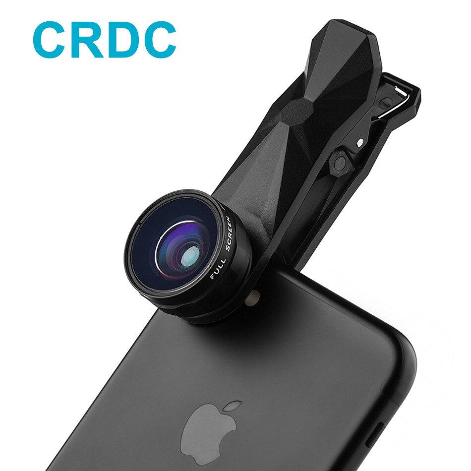 CRDC Fish eye 3in 1 Clip-sur Smartphone Lentille 180 Degrés Fisheye + Grand Angle + Macro pour iPhone/Plus Xiaomi Mobile téléphone