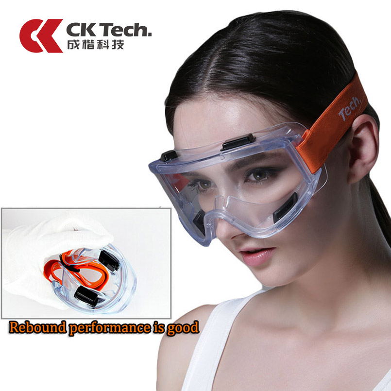 CK Tech.Safety Goggles Windproof Anti-sand Anti-fog Work Eyeglasses Transparent Anti-impact Industrial Labor Protective Glass