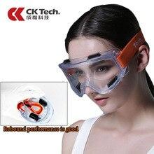 CK טק. בטיחות משקפי Windproof אנטי חול אנטי ערפל עבודת משקפיים שקוף נגד השפעה תעשייתי עבודה מגן זכוכית