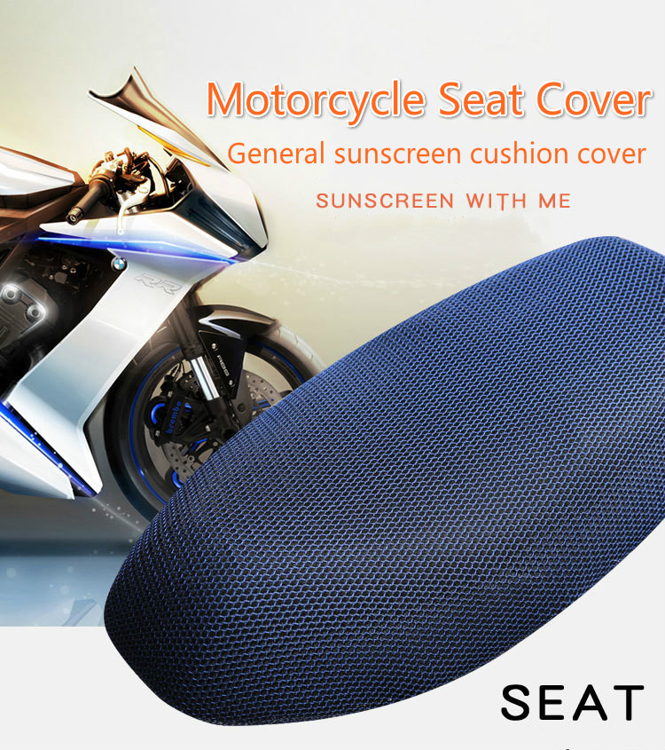 Motorcycle Parts High Quality Sun Protection E-bike Scooter Seat Cover 3D Breathable Four Seasons Universal Soft Lightweight(China)