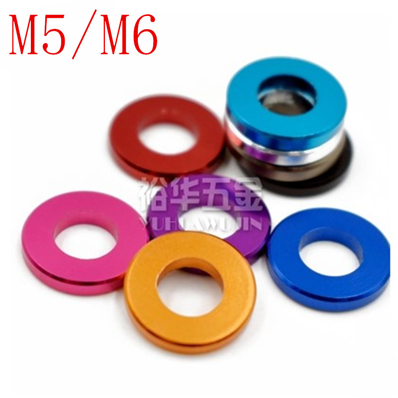 10PCS M5 M6 Aluminum alloy flat washer gasket Anodized Multi color alu washer for RC Model Parts|Washers|   - AliExpress