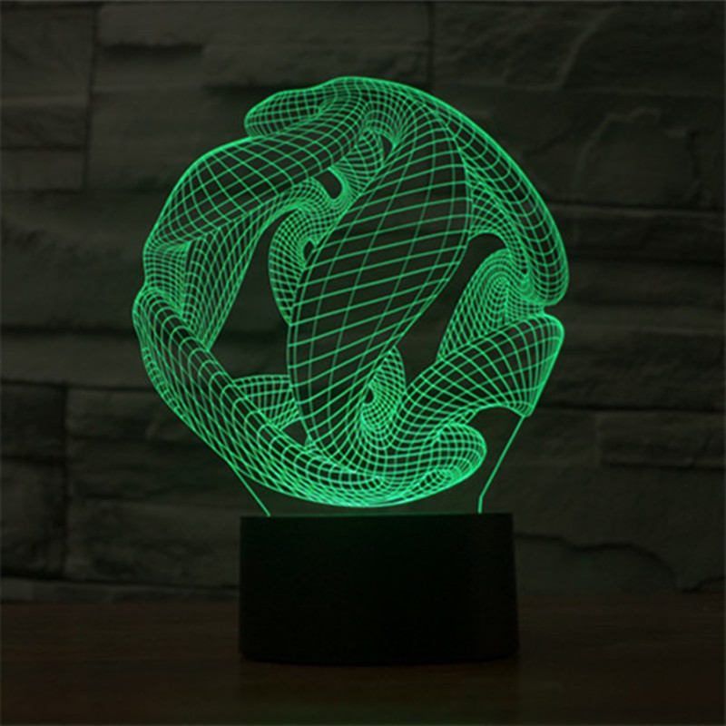 unique 3d special led table lamp 7 acrylic usb led night light touch switch night light - Unique Table Lamps