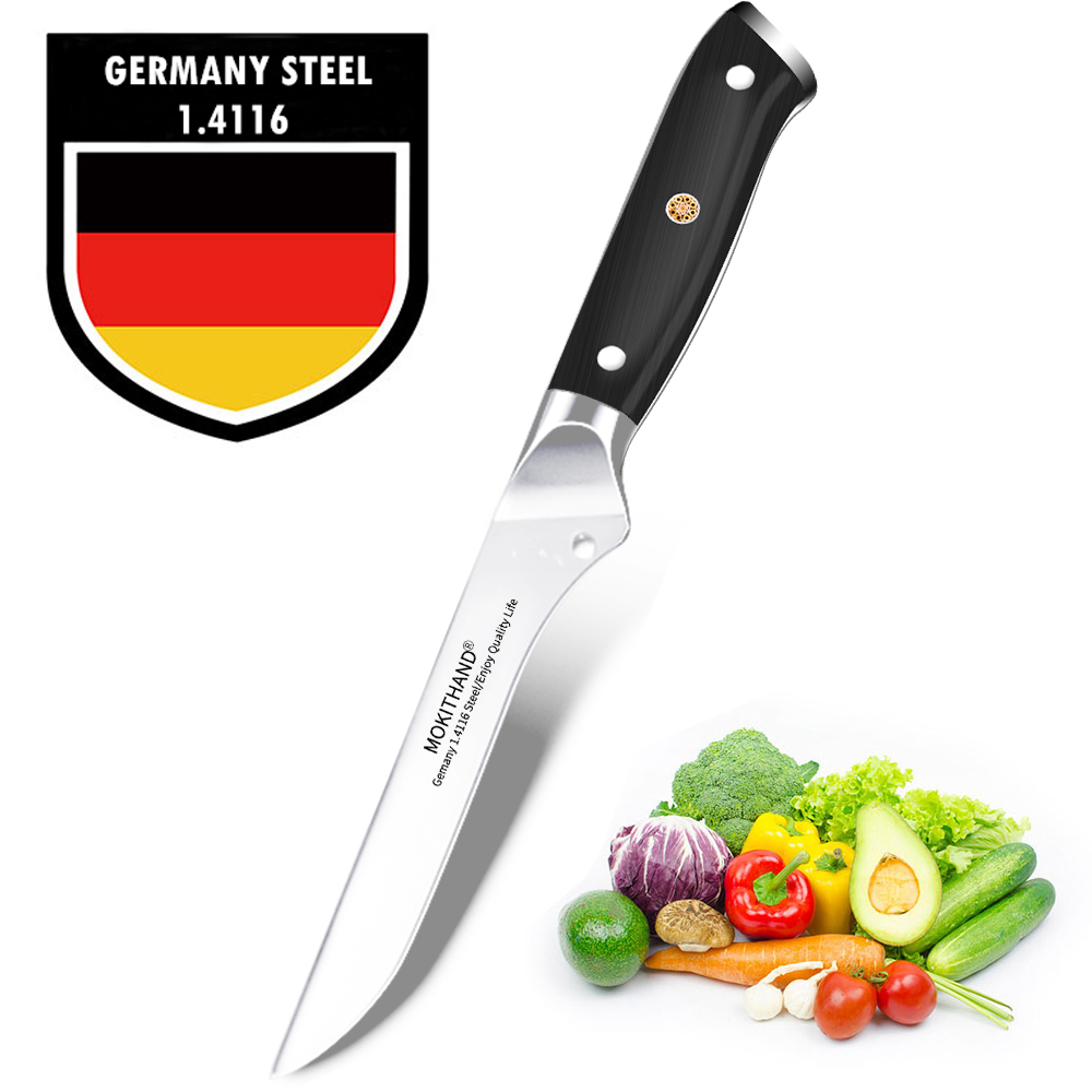 Japanese Boning Knife Sharp Kitchen Knives Germany 1.4116 High Carbon Steel Professional Meat Fishing Cooking Knife Handmade